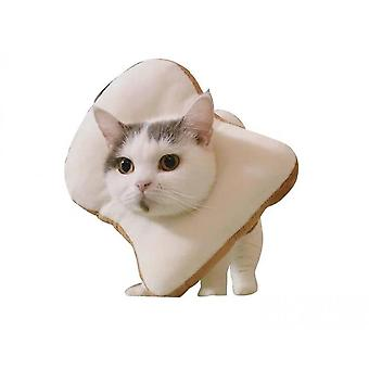 Cute Toast Neck Cone After Surgery, Wound Healing Protective Cone Bread Elizabethan Collars