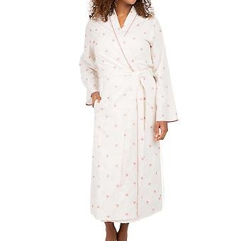 Cyberjammies Nora Rose Audrey 1556 Women's White Floral Embroidered Dressing Gown