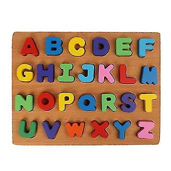 Children Early Education Wooden Puzzle Hand Grasping Number Alphabet Board Toy(GROUP1)