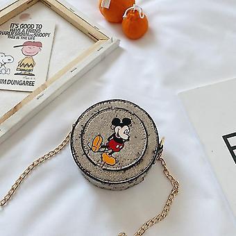 Handbags mickey mouse print messenger shoulder bag with chain