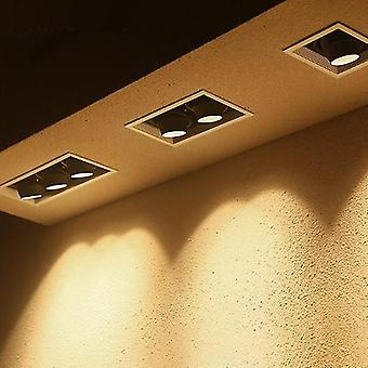Gu10 LED大胆な埋め込まれた正方形の天井ランプダブルヘッドBean Bumスポットライト