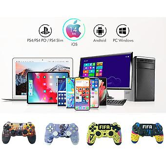 2pc set Wireless PS4 Controller Bluetooth Gamepad For PlayStation 4 Pro/Slim/PC/Android/IOS/Steam/DualShock 4 Game Joystick Graffiti 8