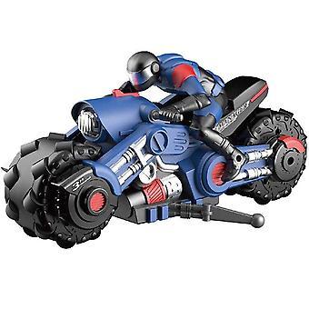 RC Stunt Auto Motorrad Elektrische 360 Grad Drift Rennen Motorrad Junge Spielzeug für Kinder Weihnachten (Blau)