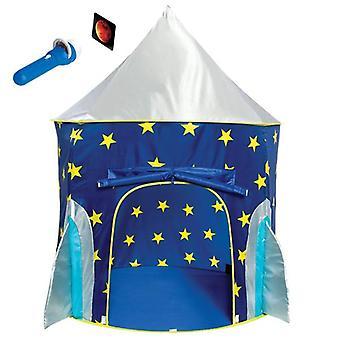 Rocket Ship Play Tent voor jongens Rocket Ship Tent, Astronaut Space Tent voor kinderen met projector speelgoed