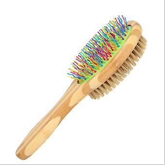 Escova de cachorro para limpeza, escova de gato para cabelos longos e curtos, removedor de pele