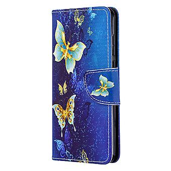 Huawei P40 Fall Muster Gold Schmetterling