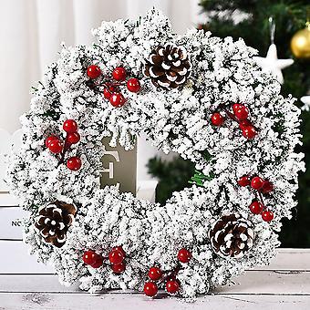 Christmas Tree Wreath Hanging Decor Home Xmas Party Door Wall Garland