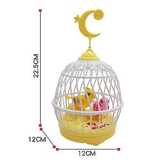 Gyermek oktató játékok, gyerekek éneklés és Hirping Madár Ketrecben Reális hangok (sárga)