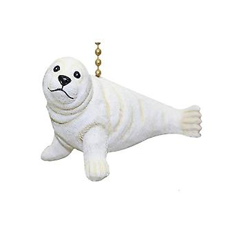 Whitecoat Harp Harbor White Seal Pup Fan Light Pull