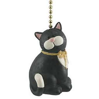 Black Cat Kitten Kitty Feline Lover Ceiling Fan Light Pull