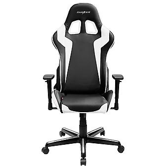 DX Racer DXRacer OH/FH00/NW High-Back Gaming Chair Carbon Look Vinyl+PU(Black/White)