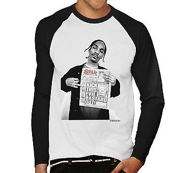 Snoop Dogg Daily Star Newspaper Men's Baseball Long Sleeved T-Shirt