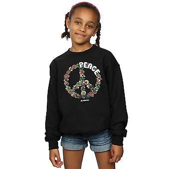Woodstock Girls Floral Peace Sweatshirt