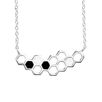 Beehive - 925 Sterling Silver Plain Necklaces - W25849X