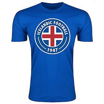 أيسلندا الأساسية شعار تي شيرت (أزرق)