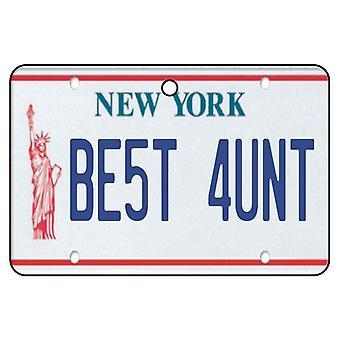 New York - beste tante License Plate auto luchtverfrisser