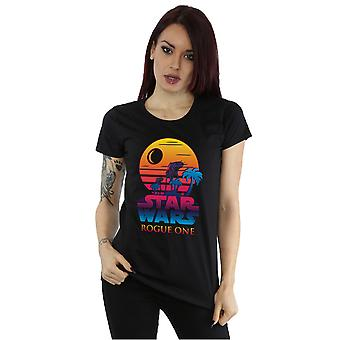 Star Wars Women's Rogue One Logo Sunset T-Shirt