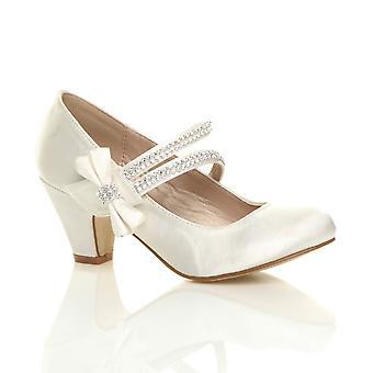 Ajvani लड़कियों कम एड़ी पार्टी शादी मैरी जेन शैली हुक & पाश सैंडल स्कूल जूते