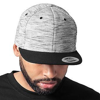 Flexfit STRIPES MELANGE Snapback Cap - black / grey