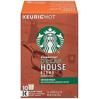 Starbucks DECAF House Blend mediu Keurig K-cupe