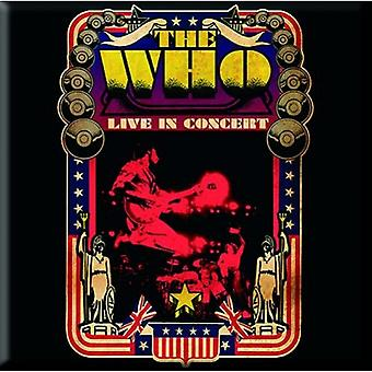 The Who Fridge Magnet Live in Concert USA new Official 76mm x 76mm