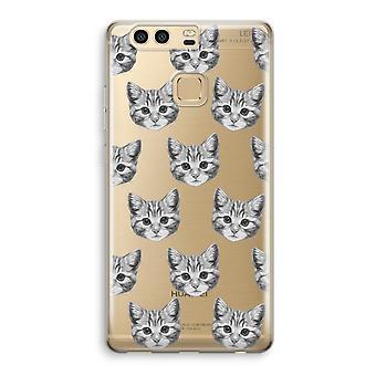 Huawei P9 gjennomsiktig sak (myk) - kattunge