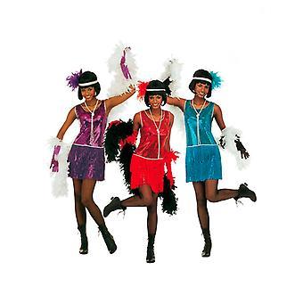 Deluxe flapper kjole-3 farver (kjole, Pandebånd)