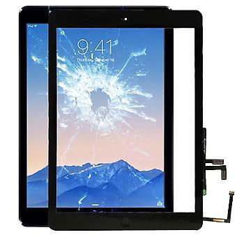 Aire de iPad de Apple pantalla pantalla táctil de cristal + Home botón disco negro