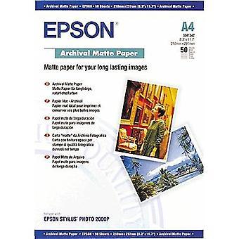 Epson Archival Matte Papper C13S041342 Fotopapper A4 192 g/m² 50 ark Matt