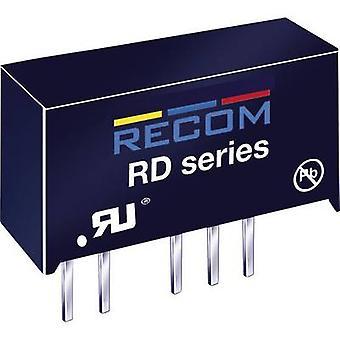 RECOM RD-0515D/P DC/DC omvandlare (tryck) 5 V DC 15 V DC,-15 V DC 66 mA 2 W No. av utgångar: 2 x