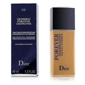 Christian Dior Diorskin forever Undercover 24h Wear Full Coverage Water Based Foundation - € 040 Honig Beige - 40ml/1.3oz