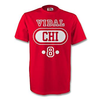 Arturo Vidal Chile Chi T-shirt (rot) - Kids