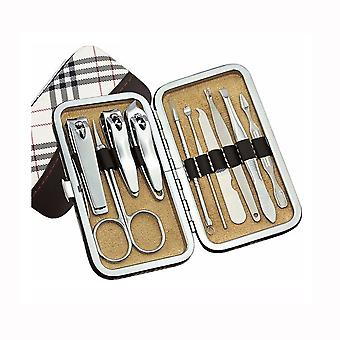 10 Pcs Nail Care Cutter Cuticle Clippers Pedicure Manicure Grooming Kit Gift Set