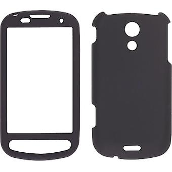 Wireless Solutions Two piece Soft Touch Snap-On Case for Samsung Epic 4G - Black