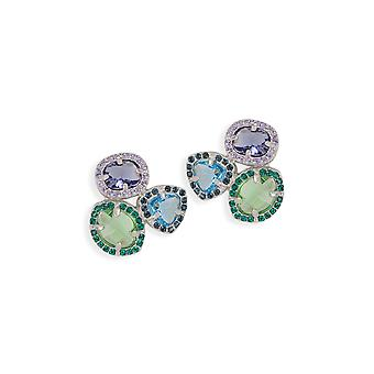Multicolor earrings with crystals from Swarovski 409
