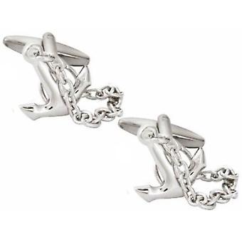 Zennor Anchor Cufflinks - Silver