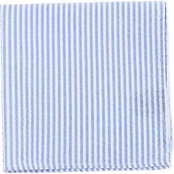 Knightsbridge Neckwear полосатый хлопок карман площадь - голубой/белый