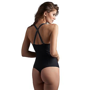 Marlies Dekkers 18155 Women's Gloria Black PinStripe Padded Underwired Bodysuit One Piece Body