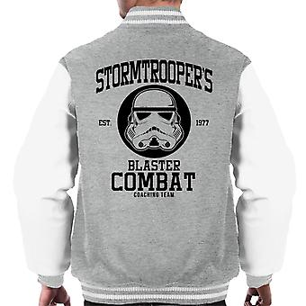 Originele Stormtrooper Blaster bestrijden Coaching Team mannen Varsity Jacket
