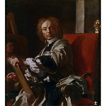 Self-Portrait, Francesco Solimena, 50x50cm