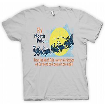 Kids T-shirt - Fly North Pole Air - Funny Santa