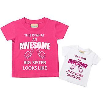 Esta que una hermana grande impresionante poco hermana camiseta Set