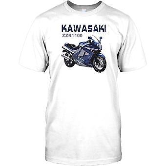 Kawasaki ZZR1100 - más rápido siempre bici para hombre camiseta