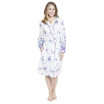 Cyberjammies 4098 vrouw Andrea White Floral Print badjas Lounge Bad badjas Kimono