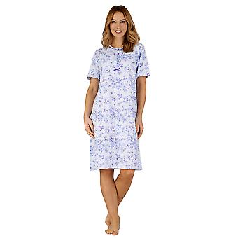 Slenderella ND3101 nők ' s Cotton Jersey éjszakai ruha loungewear nightdress
