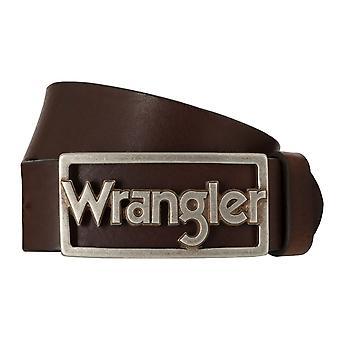 Pour hommes ceintures WRANGLER ceinture cuir ceintures marron 7853