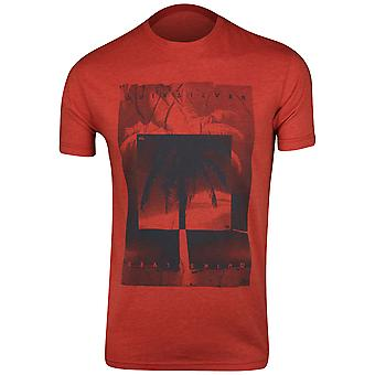Quiksilver Mens Inverted T-Shirt - Heather Red/Navy