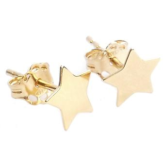 Ah! Jewellery 24K Gold Vermeil Over Sterling Silver 6mm Star Studs