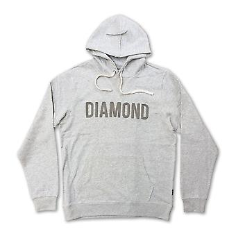 Diamond Supply Co Diamond French Terry Pullover Hoodie Heather Grey
