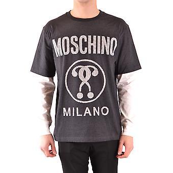 Moschino Ezbc015074 Uomini's Maglione di cotone grigio